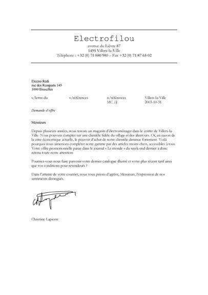 formule finale de politesse lettre Calliope   La lettre d'affaires   Démantelez formule finale de politesse lettre